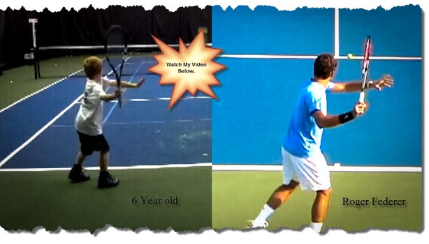6 year old vs Federer