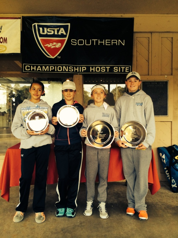 Strive Girls Take 1st and 2nd Doubles at Southern Level One 2014